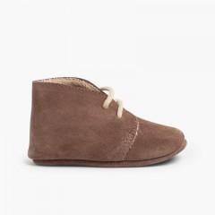 Booties desert boots furry inner liner  Taupe