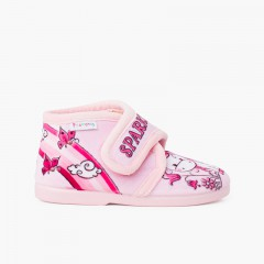 Sparkly slip-on slippers Pink