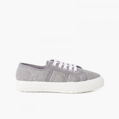 Organic Knitted Trainers Grey