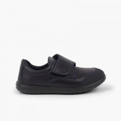 Boys' School Shoe Washable with Reinforced Toe  Navy Blue