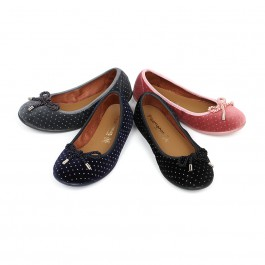 Ballerina shoes in Velvet with Bows and Sparkles