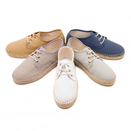 Canvas Bluchers with Rope Sole