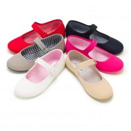 Girls Canvas Mary Jane Shoes - Large Sizes