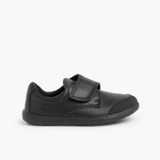 Boys' School Shoe Washable with Reinforced Toe  Black
