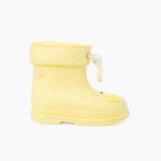 Wellies small children hippo Pastel Yellow