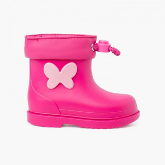 Butterfly Wellies for Small Children Fuchsia