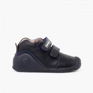 Biomecanics school shoes reinforced toe cap Navy Blue