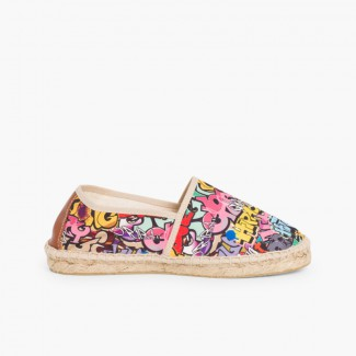 Kids & Adults Printed Espadrilles Graffiti
