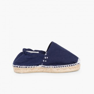 Kids Espadrilles with Elastic Band Blue