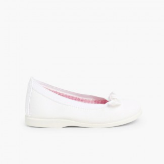 First Walkers Canvas Elasticated Ballet Pumps