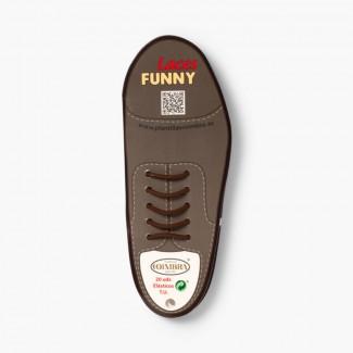 Formal Elastic Shoelaces Pack of 20 Brown