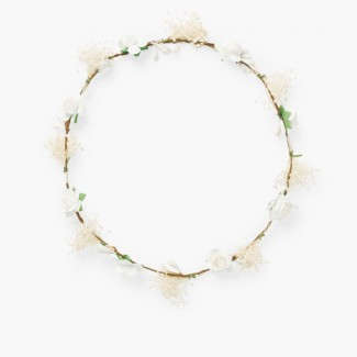 Flower and gypsophila garland White