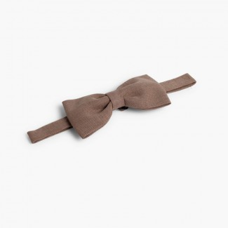 Boys Linen bow tie Taupe