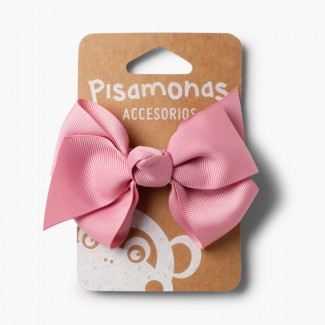 Girl´s hair clip with large bow La France Pink