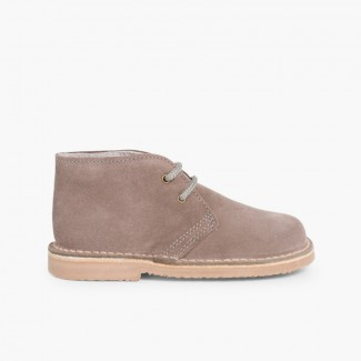 Lace-up Safari Desert Boots Grey