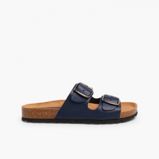Boys' Bio Sandals with Buckles Navy Blue