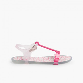 Girls Rubber Sandals Tricia Flower