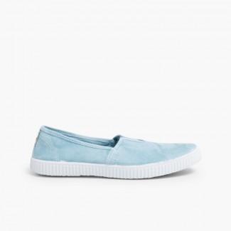 Elastic Slip-On Camping Shoes  Bluish