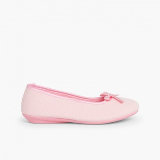 Ballerina Slippers with bow Pink