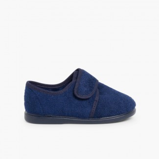 Kids Riptape Slippers Navy Blue