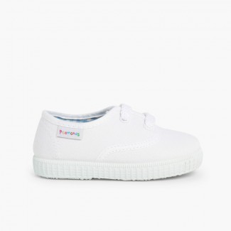 Kids Lace-Up Trainers White