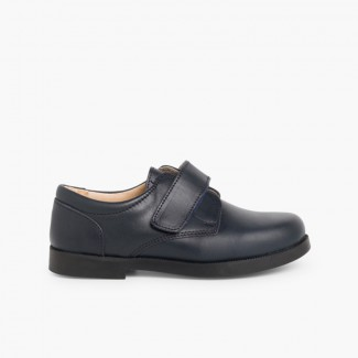 Boys Riptape School Shoes Navy Blue