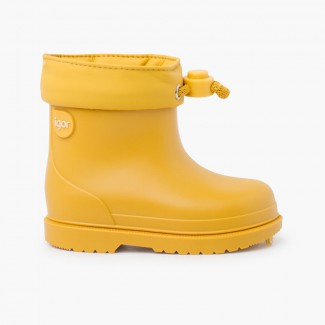Wellington boots for children pastel colors Yellow