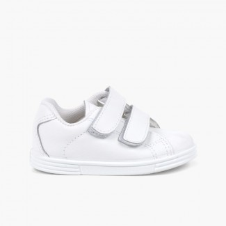 Trainers Infant and Child Washable Leather  White