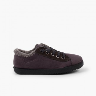 Boys winter trainers with fur lining Grey