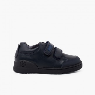 Biomecanics school shoes with adherent strips Navy Blue