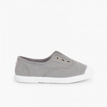 Rubber Toe Cap Canvas Trainers Without