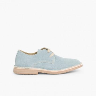 Sackcloth Blucher Shoe Blue