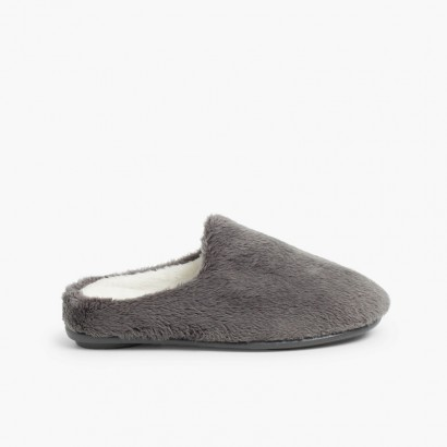 Soft furry house slippers  Grey