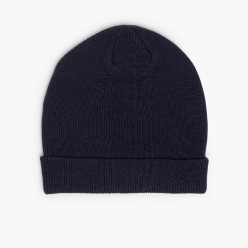 CONDOR Ribbed Beanie 1x1 Navy Blue