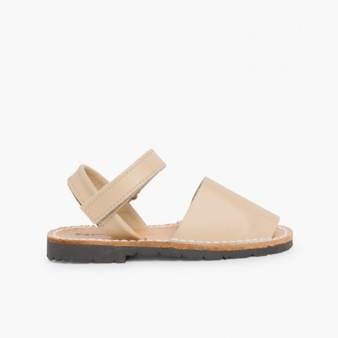 Kids Nappa Avarcas Menorcan Riptape Sandals Sand