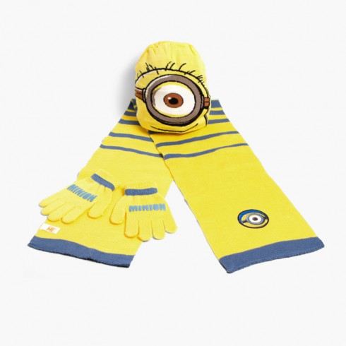 Kids Disney Set: Beanie + Scarf + Gloves Minions