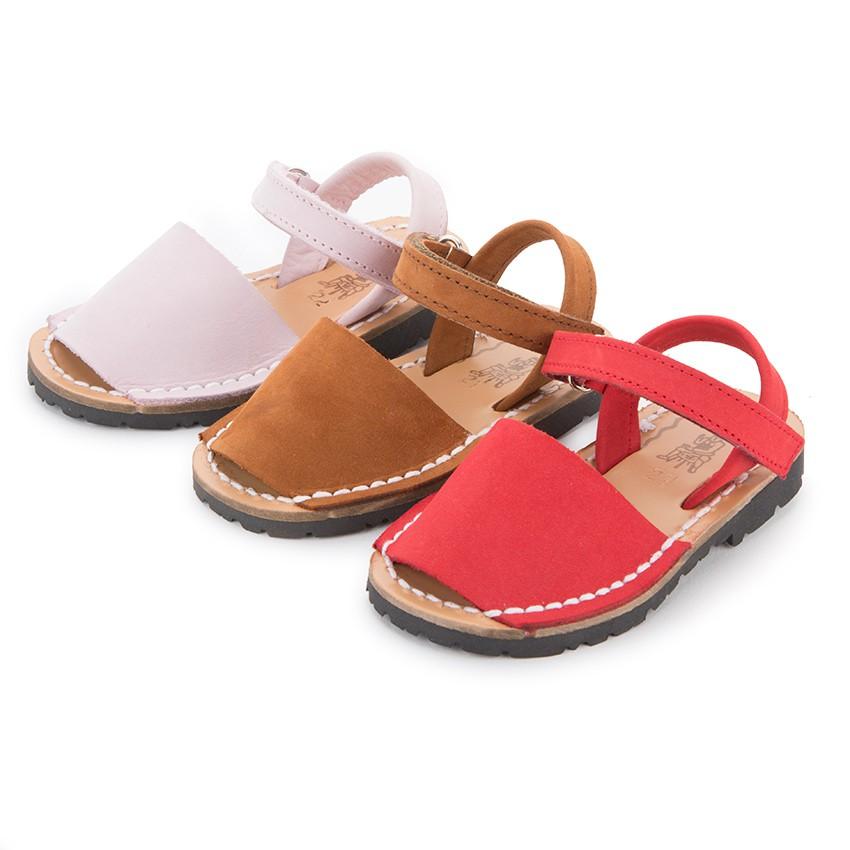 Nubuck Avarcas Menorcan Riptape Sandals