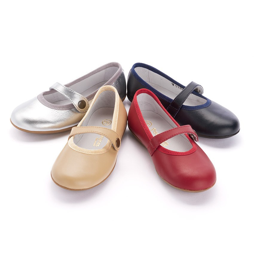 Girls Colourful Leather Mary Janes