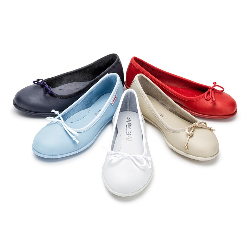 Girl's Washable Leather Ballet Flats