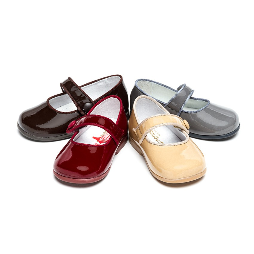 Girl's Riptape Patent Mary Janes