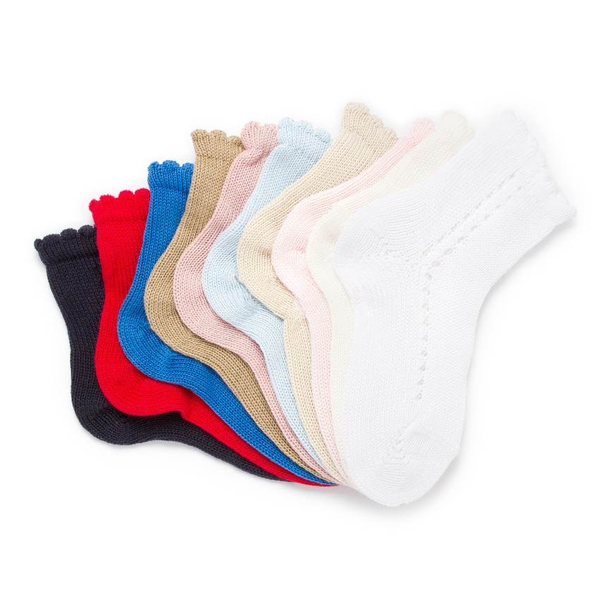 CONDOR Pointelle Short Summer Socks