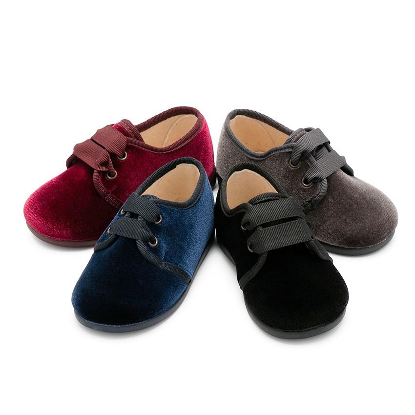 Velvet Lace-up Shoes
