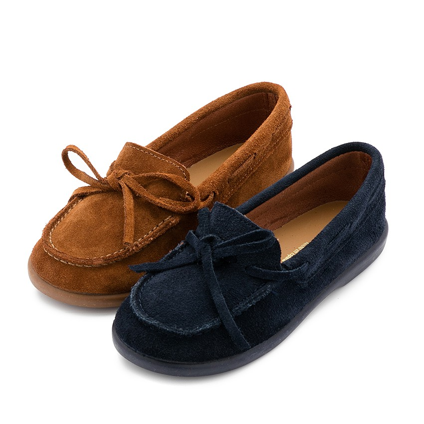 Bow Suede Moccasins