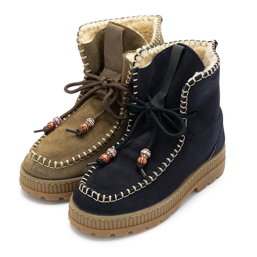 Suede faux sheepskin Boots