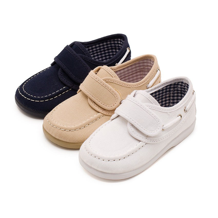 Canvas Boat Shoes loop fasteners