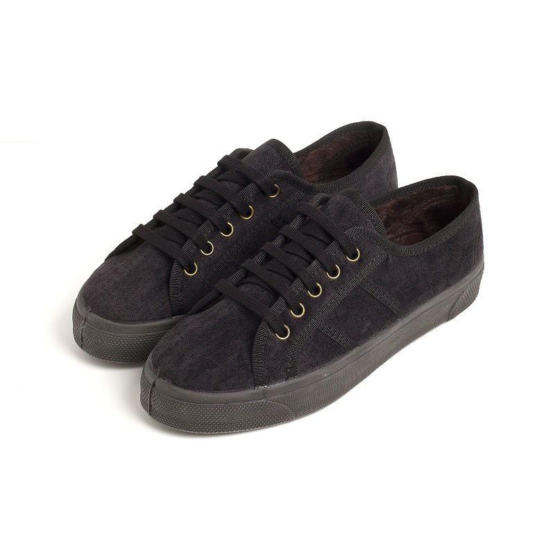 Platform velvet sneakers woman and girl