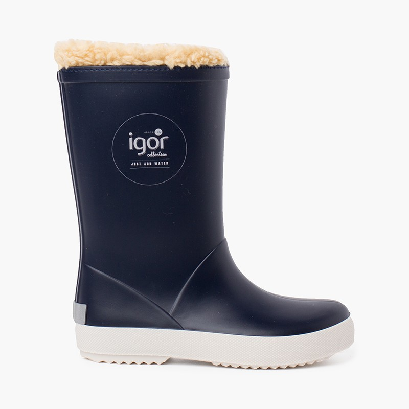 Inner shearling wellies for children