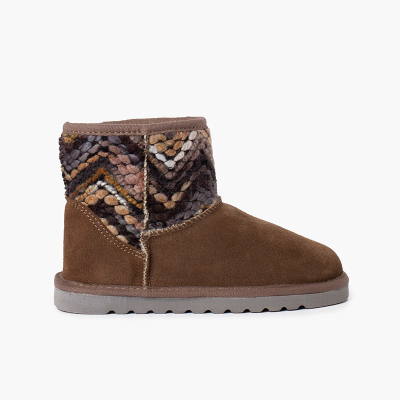 Low boot Australian style details wool colors