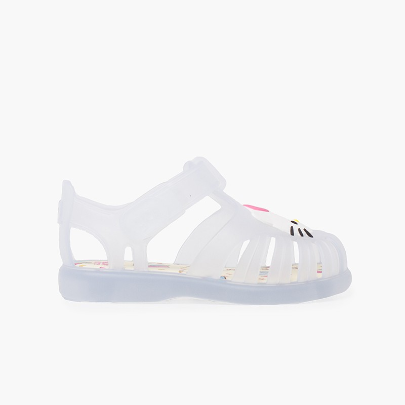 Jelly Sandals hook-and-loop closure Hello Kitty