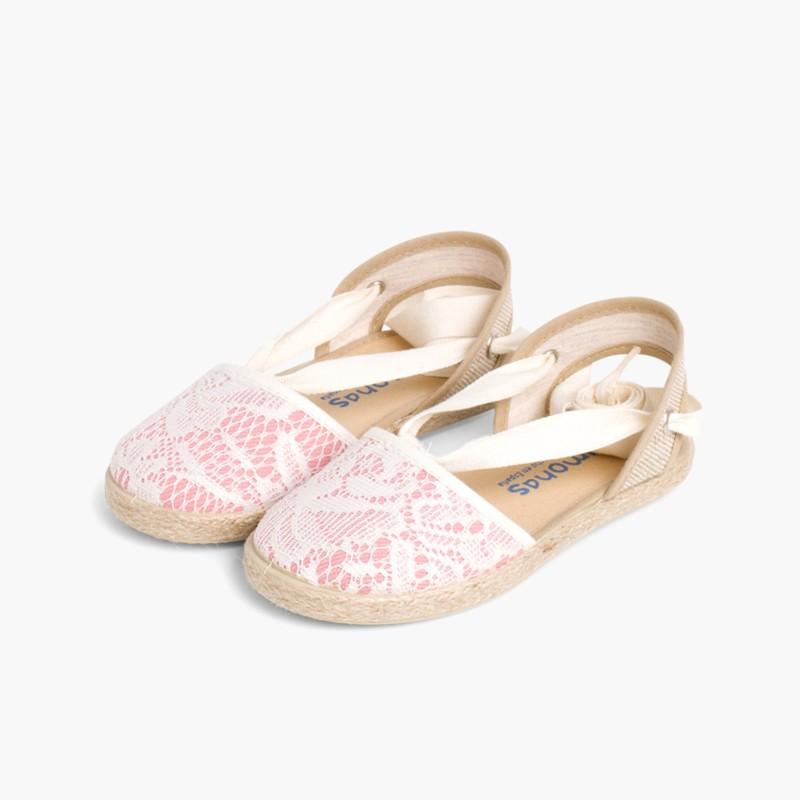 Girls Espadrilles Crochet Pink